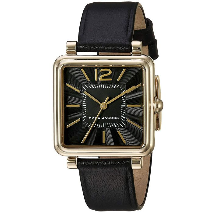 Marc Jacobs Vic Black Leather Women's Watch MJ1522