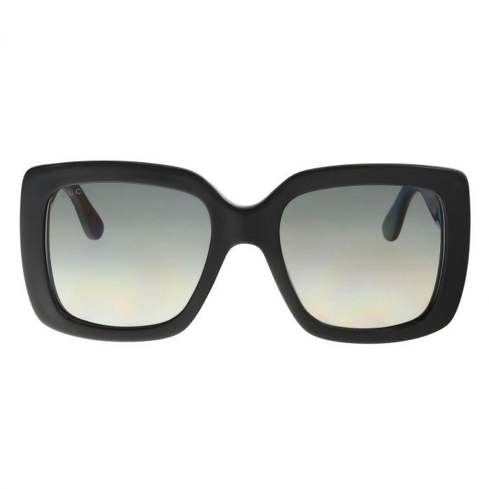 Gucci Grey Gradient Square Oversize Women's Sunglasses GG0141S 001 53
