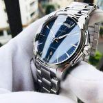 Hamilton Jazzmaster Automatic Mặt Tròn Màu Xanh Dây Kim Loại Màu Bạc Lịch Ngày Thứ H32505141