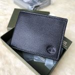 Timberland Leather with Attached Flip Pocket Black (Sportz) Men's Wallet D02387/08