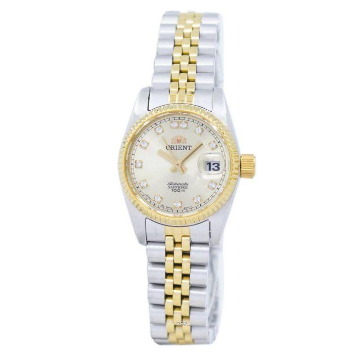 Orient Diamond Sapphire Automatic Two Tone Women's Watch SNR16002C