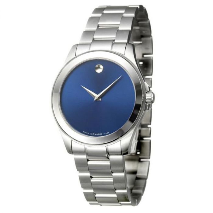 Movado Junior Sport Stainless Steel Blue Dial Men's Watch 0606116