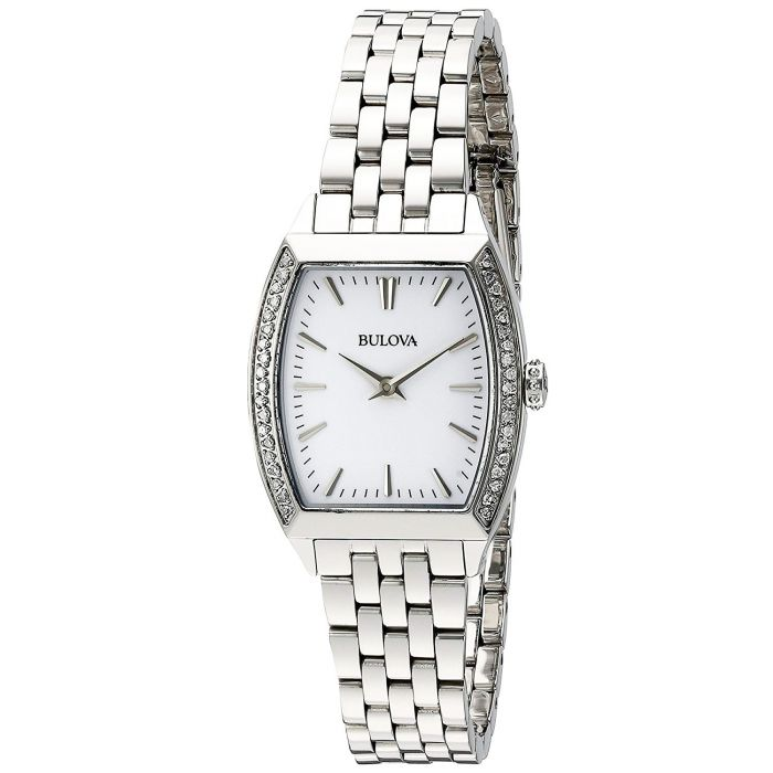 Bulova Diamond Accent Gallery Women's Watch 96R196