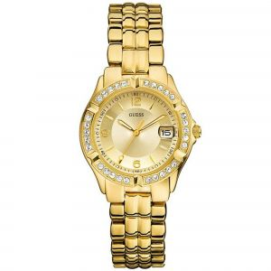 Guess Stainless Steel Two-Tone Crystal Accented Women's Watch U85110L1