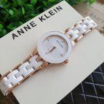 Anne Klein Diamond Mặt Tròn Màu Trắng Dây Ceramic AK/1610WTRG