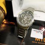 Tissot T-Sport Titanium Chronograph Anthracite Mặt Tròn Màu Đen Dây Kim Loại Màu Bạc Lịch Ngày T069.417.44.061.00