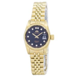 Orient Diamond Sapphire Automatic Gold Women's Watch SNR16001B