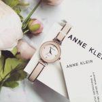 Anne Klein Diamond Mặt Tròn Dây Kim Loại Màu Hồng Phấn AK/1980BMRG