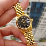 Orient Diamond Sapphire Automatic Gold Women's Watch SNR16001B