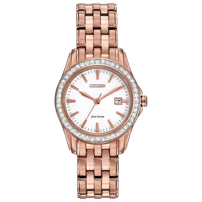 Citizen Silhouette Crystal Accented With Date Women's Watch EW1903-52A