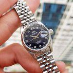Orient Diamond Sapphire Automatic Blue Dial Women's Watch SNR16003D