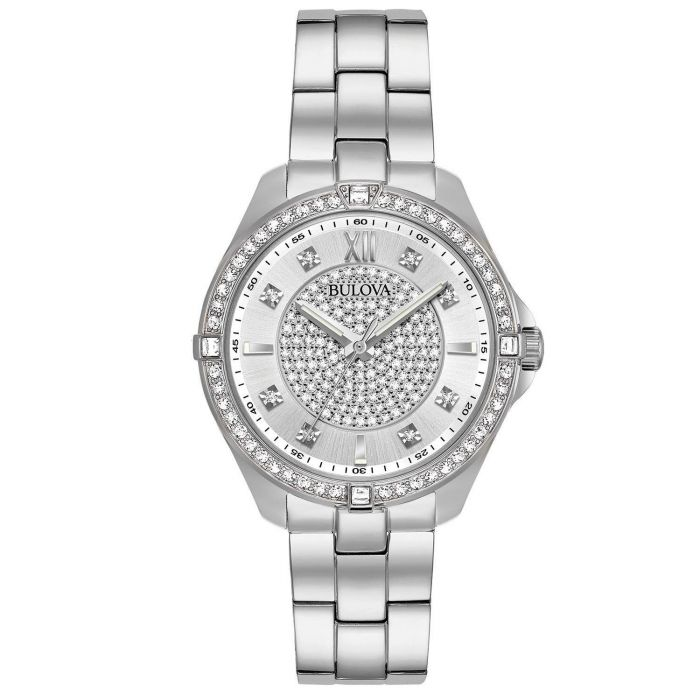 Bulova Crystal Accent Stainless Steel Women's Watch 96L236