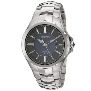 Seiko Courtura Solar Silver Tone Men's Watch SNE411