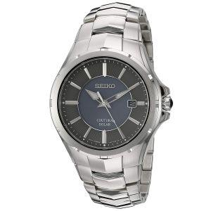 Seiko Courtura Solar Silver Tone Men's Watch SNE411