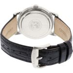 Citizen Eco-Drive Black Leather Stainless Steel Case Men's Watch AO9000-06B