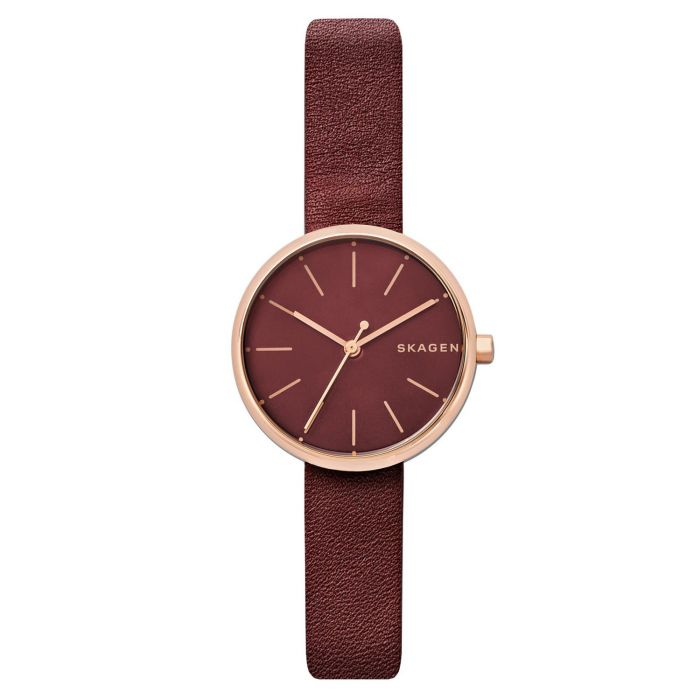 Skagen Signatur Maroon Dial Red Women's Watch SKW2646