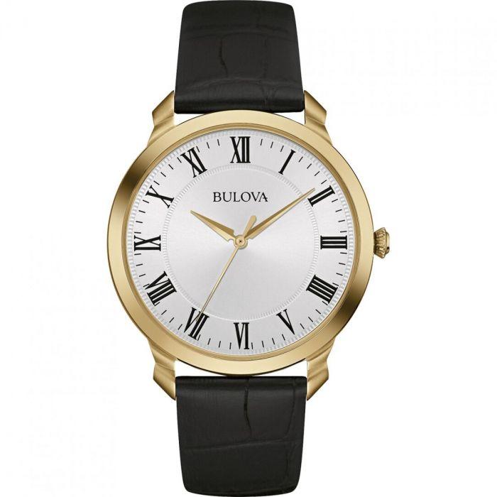 Bulova Classic White Dial Yellow Gold-tone Men's Watch 97A123