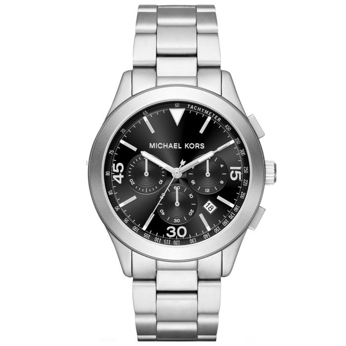 Michael Kors Gareth Chronograph Black Dial Stainless Steel Silver Tone Men's Watch MK8469
