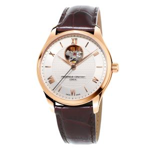 Frederique Constant Classics Open Heart Automatic Brown Leather Men's Watch FC-310MV5B4