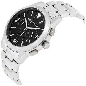 Michael Kors Gareth Chronograph Black Dial Stainless Steel Silver Tone Men's Watch MK8469