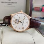 Frederique Constant Classics Open Heart Automatic Brown Leather Men's Watch FC-310MV5B4