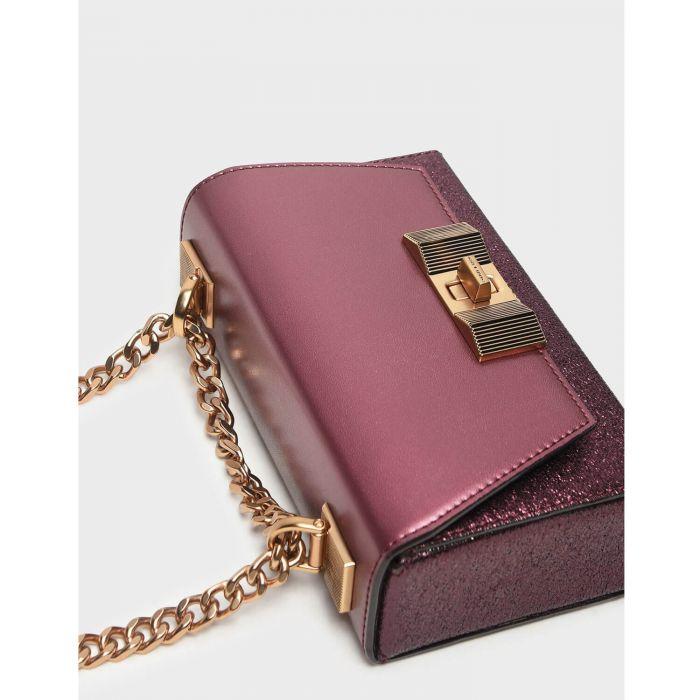 Charles & Keith Chain Detail Turn Lock Closure Women's Bag CK2-70700793