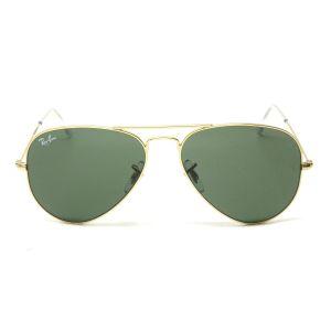 Ray-ban Aviator Arista Green Classic Sunglasses RB3025 W3234 55-14