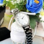Bulova Diamond Stainless Steel Case and Bracelet White Tone Dial Women's Watch 96R191