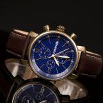 Fossil Rhett Chronograph Blue Dial Brown Leather Men's Watch BQ2099