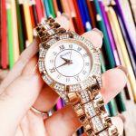 Bulova Swarovski Crystal Rose Gold Women's Watch 98L197