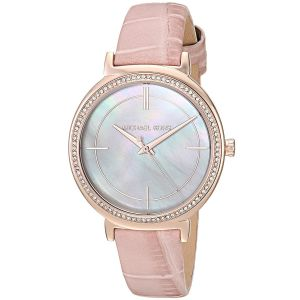Michael Kors Cinthia Mother Of Pearl Blush Leather Women's Watch MK2663