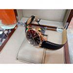 Bulova Classic Mặt Tròn Dây Da Màu Đen Lịch Ngày 97B164