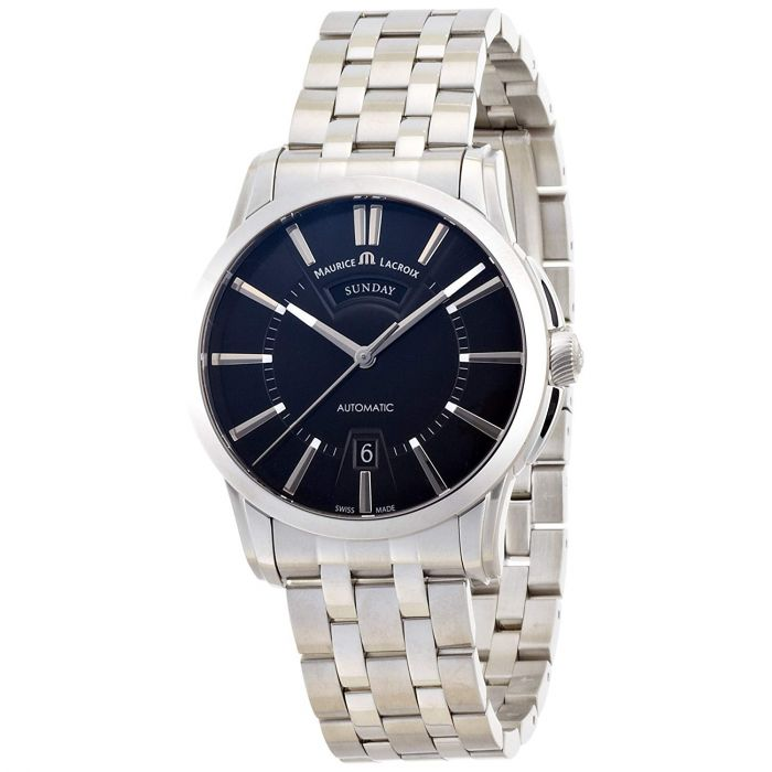 Maurice Lacroix Pontos Day Date Black Dial Men's Watch PT6158-SS002-33E