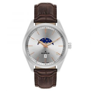Edox Les Vauberts Moon Phase Men's Watch 79018-3-AIR