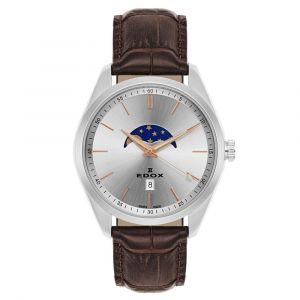 Edox Les Vauberts Moon Phase Men's Watch 79018-3-AIR