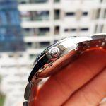 Orient Golden Eye II Open Heart Automatic Mặt Tròn Màu Đen Dây Kim Loại Màu Bạc FAG03001B0