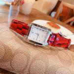 Tissot TXL Mặt Chữ Nhật Màu Bạc Dây Da Màu Đỏ Lịch Ngày T061.310.16.031.01