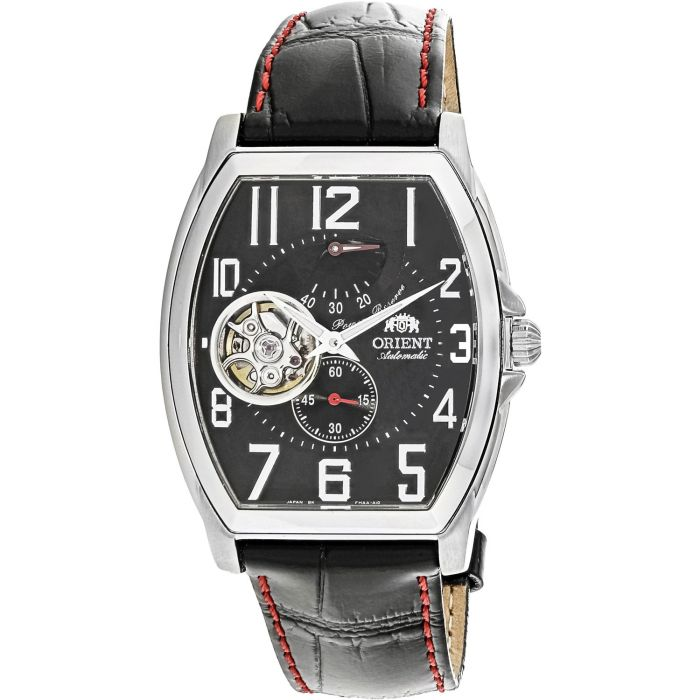Orient Open Heart Automatic Black Leather Men's Watch CFHAA002B0