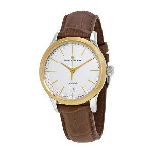 Maurice Lacroix Les Classiques Automatic Date Brown Leather Men's Watch LC6017-YS101-130