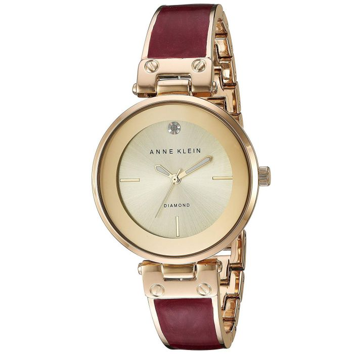 Anne Klein Champagne Bangle Women's Watch AK/2512BYGB