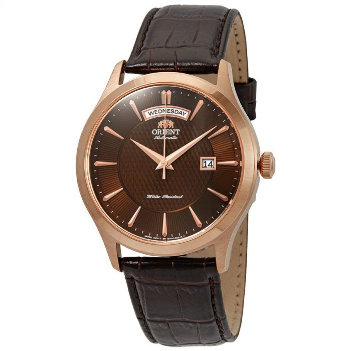 Orient Classic Automatic Brown Dial Day Date Men's Watch FEV0V002TH
