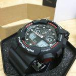 Casio G-Shock Mặt Tròn Dây Nhựa Màu Đen GA100-1A4