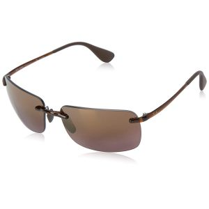 Ray-ban Ray ban Polarized Purple Mirror Chromance Lens Navigator Sunglasses RB4255 604/6B 60-15