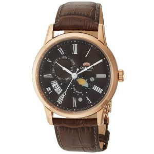 Orient Sun And Moon Gen 3 Automatic Brown Leather Men's Watch SAK00003T0