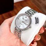 Anne Klein Diamond Silver Accented Women's Watch AK/1363SVSV