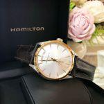 Hamilton Jazzmaster Automatic Mặt Tròn Màu Bạc Dây Da Màu Nâu Lịch Ngày Thứ H42525551