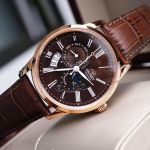 Orient Sun And Moon Gen 3 Automatic Brown Leather Men's Watch SAK00003T0
