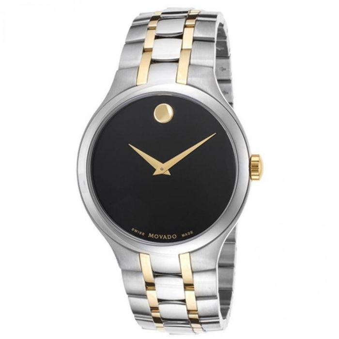 Movado Black Dial Collection Two Tone Men's Watch 0606958