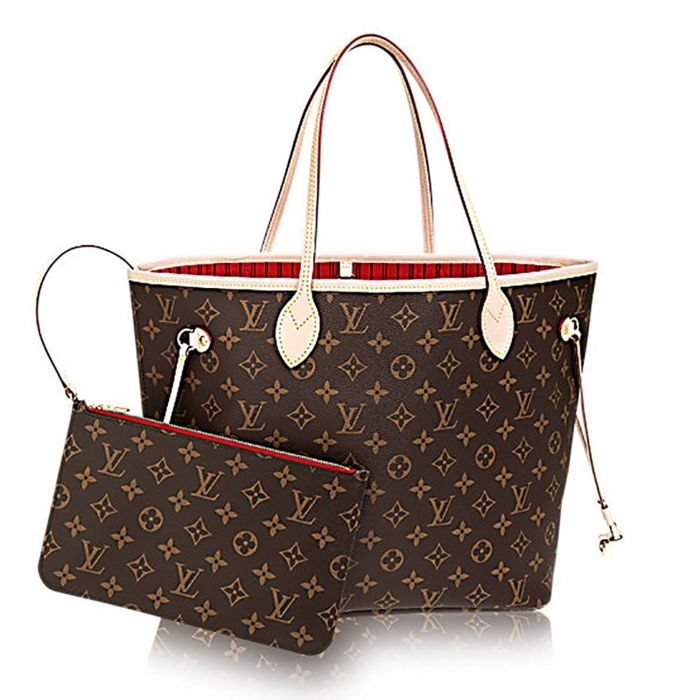 Louis Vuitton Neverfull Monogram Canvas Cerise Lòng Đỏ M41177