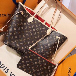 Louis Vuitton Neverfull Monogram Canvas Cerise Lòng Đỏ M41177